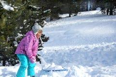 Vacances d'hiver actives Photos stock