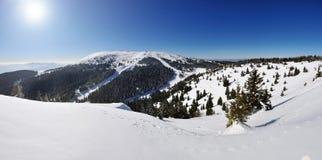 Vacances d'hiver en montagne Images libres de droits