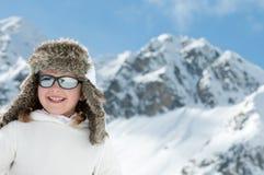 Vacances d'hiver heureuses Images libres de droits