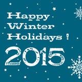 Vacances d'hiver heureuses illustration libre de droits