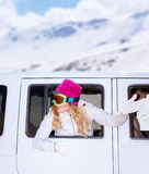 Vacances d'hiver heureuses Image libre de droits