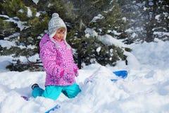 Vacances d'hiver heureuses Photographie stock