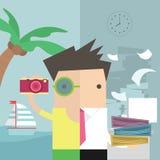Vacances d'homme d'affaires Photo stock