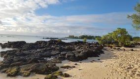 Vacances d'océan d'île de Mauritius Maurice de pierres Photographie stock