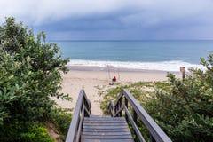Vacances d'océan de plage de pêche Photo stock