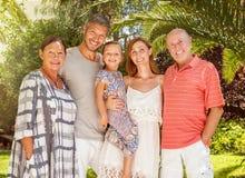 Vacances d'été de grands-parents Photos stock