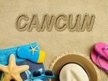 Vacances dans Cancun Image libre de droits