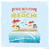 Vacances dans la plage Photos libres de droits