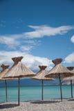 Vacances dans le sud par la mer Photos libres de droits