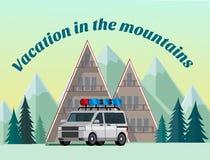 Vacances dans les montagnes illustration libre de droits