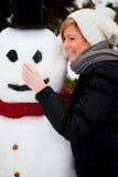 Vacances de bonhomme de neige Photos stock