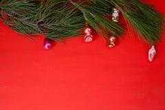 Vacances de cadeaux de flocons de neige de jouets de cadeaux de décoration de fond de Noël images libres de droits