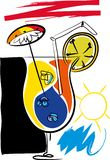 Vacances de cocktail illustration de vecteur