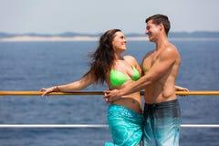 Vacances de croisière de couples Photo libre de droits