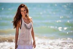 Vacances de dépense à la plage Image stock