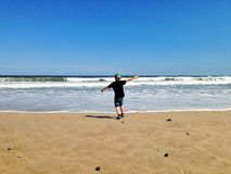 Vacances de famille à la plage Photographie stock libre de droits