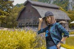 Vacances de ferme de femme Photos stock