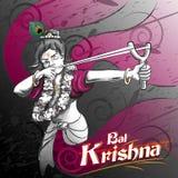 Vacances de festival de Lord Krishna Indian God Janmashtami illustration libre de droits