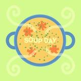 Vacances de jour de soupe Photo libre de droits