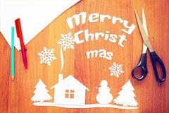 Vacances de Joyeux Noël Photo stock