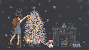 Vacances de Joyeux Noël pour le meilleur ami photos libres de droits