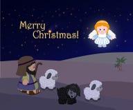 Vacances de Joyeux Noël, scène de nativité Photos libres de droits