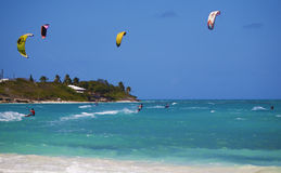 Vacances de Kiteboarding Photo libre de droits