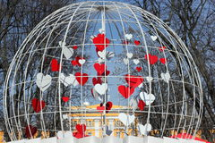 Vacances de l'amour et du ressort en parc Photos stock