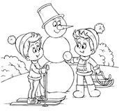 Vacances de l'hiver illustration stock