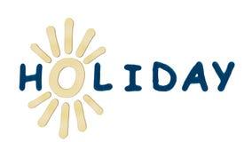 Vacances de logo Photographie stock libre de droits