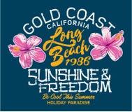 Vacances de Long Beach Images libres de droits