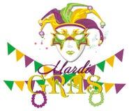 Vacances de mardi gras avec des symboles illustration libre de droits