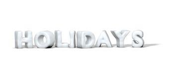 Vacances de mot de neige Images stock