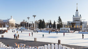 Vacances de Noël à Moscou, Russie Photos stock