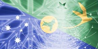 Vacances de Noël d'indicateur d'Îles Christmas Images libres de droits