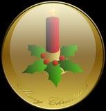 vacances de Noël de bougie de fond illustration libre de droits