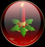vacances de Noël de bougie de fond illustration stock