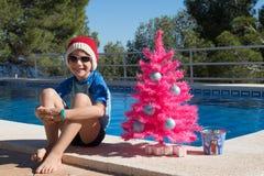 Vacances de Noël heureux  Carte postale de Joyeux Noël photographie stock libre de droits
