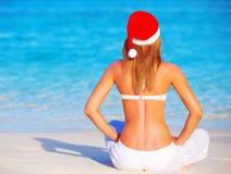 Vacances de nouvelle année sur les îles Maldives Images stock