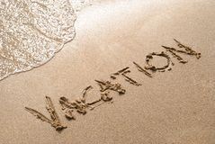 Vacances de plage Images libres de droits
