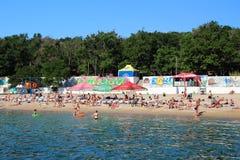 Vacances de plage avec la Mer Noire Image stock