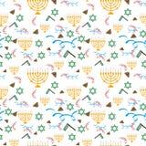 Vacances de Purim, fond avec des symboles de fête, vecteur illustration libre de droits