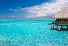 vacances de ressource de paradis de pavillon Images libres de droits
