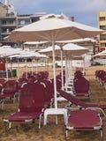 Vacances de Rethymnon sur la plage de Crète Photographie stock