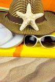 Vacances de Summmer sur une plage photographie stock