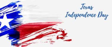 Vacances de Texas Independence Day illustration de vecteur