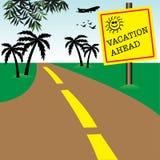 Vacances en avant Image libre de droits