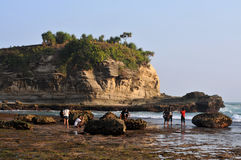 Vacances en plage de Klayar, Pacitan Photos libres de droits