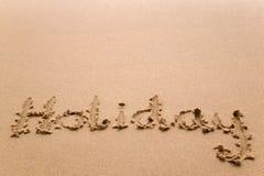 Vacances en sable horizontal Photo stock