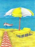 Vacances et reste Images libres de droits